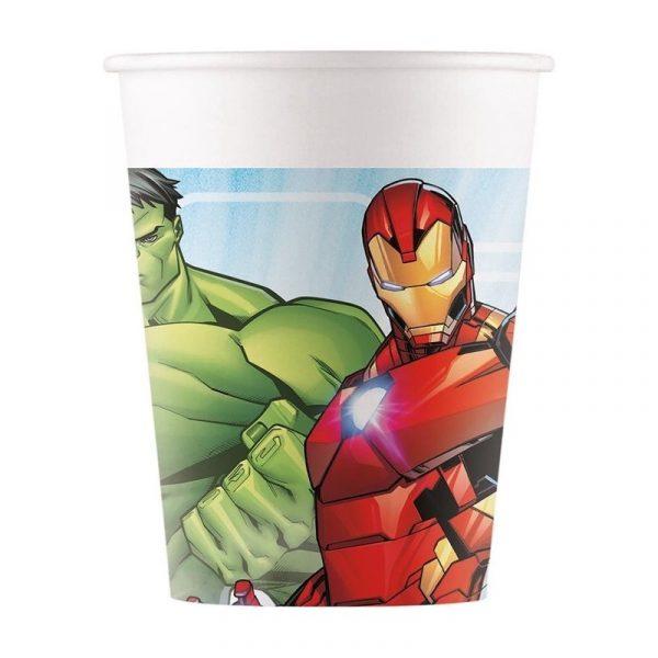 copos avengers de papel 200ml
