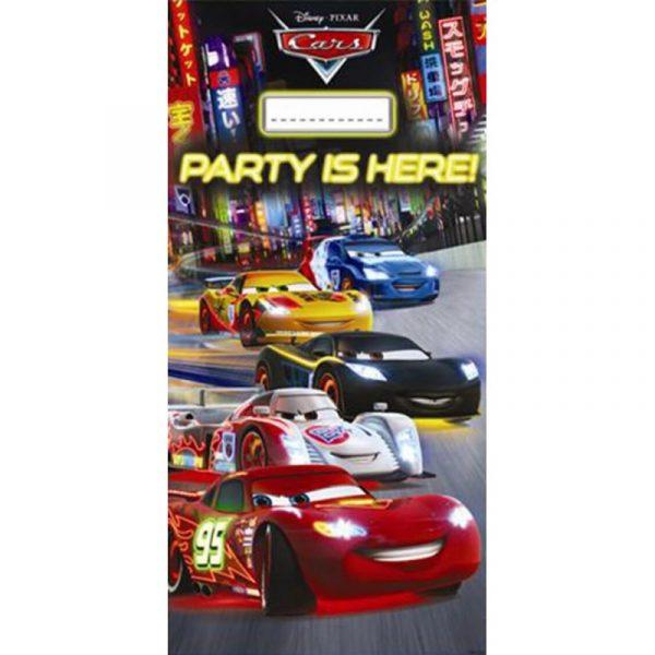 door banner cars neon disney plastic 152x76cm 1pc