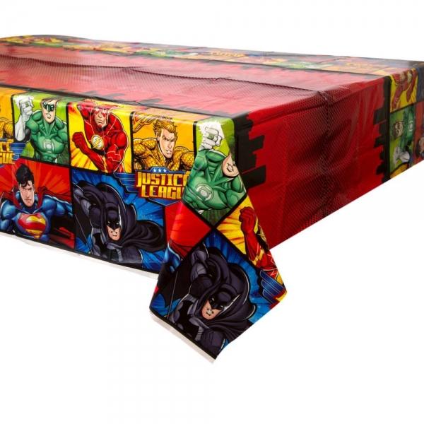 justice league plastic tablecloth