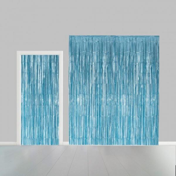 baby blue partys curtain 323165468