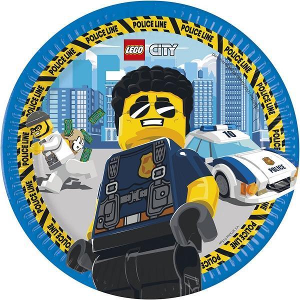 8 lego city pappteller 23cm