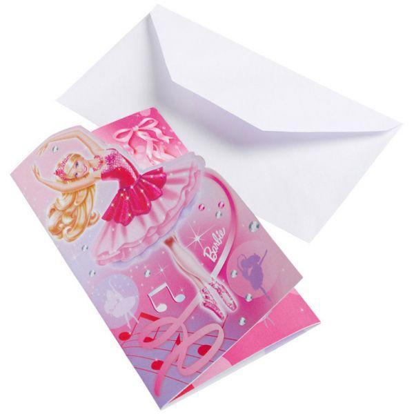 94199 Barbie Barbie 2 Invitasjoner 6 stk 1