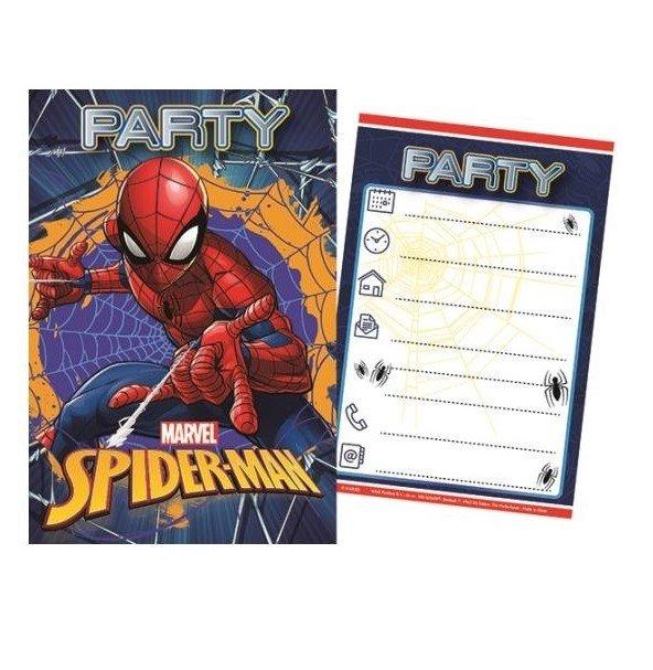 disney indbydelse invitationskort bornefest boernefoedselsdag spiderman p