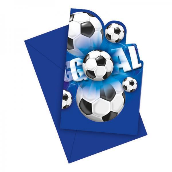 inbjudningskort fotboll bla