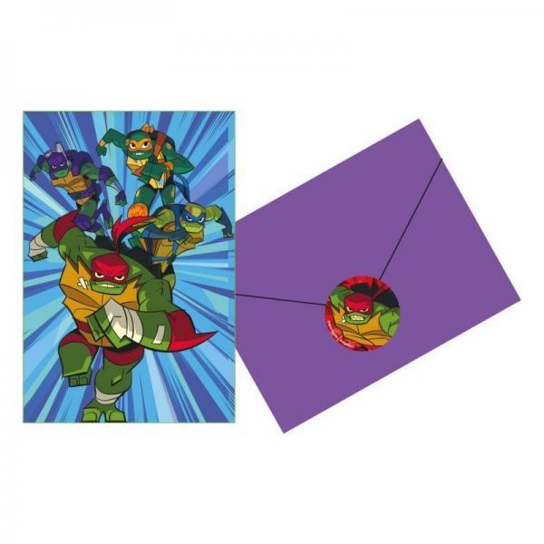 invitaciones de las tortugas ninja power 6