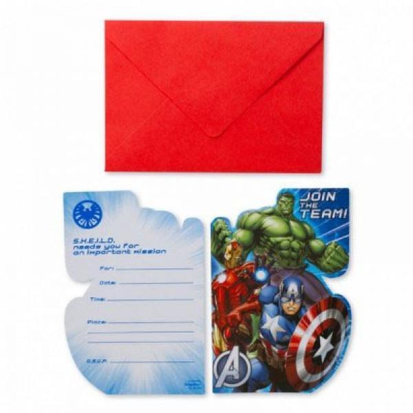 uitnodiging avengers met envelop 8 stuks tuf tuf.nl