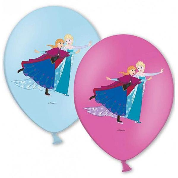 6 ballons latex reines des neiges
