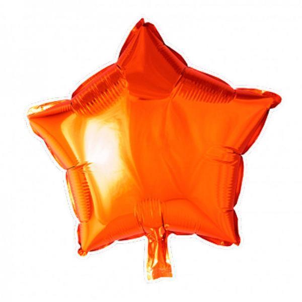 foilballoon star 18 orange singlepacked