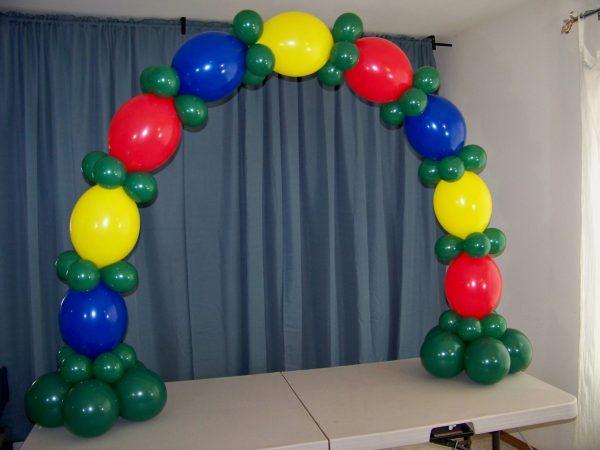 arco de baloes para mesas 1.80m scaled