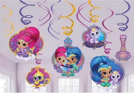 decoracao shimmer and shine